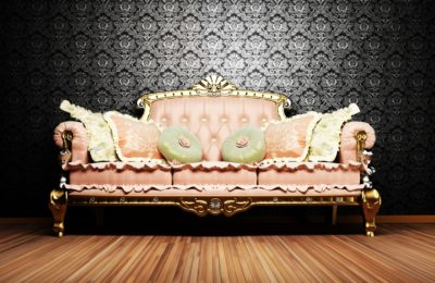 12902102 - modern  interior design of living room with a  royal sofa on the vintage background